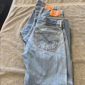 Bundle lot 3 Levi's 501 34 X 32 jeans button fly